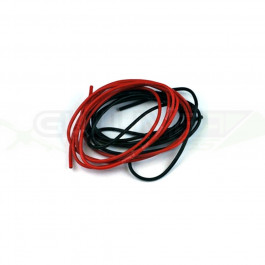 Cable silicone awg20 0.5mm2 1m de rouge et 1m de noir