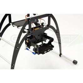 Support caméra go pro 2 axes pour train rehaussé 155mm/200mm quadframe