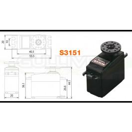 Servo standard futaba digital s3151