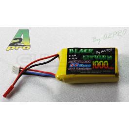 Black lithium 1000mah 15c 2s prise BEC