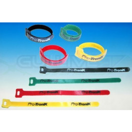 Colliers velcro 23 cm 4 couleurs x2 soit 8 colliers