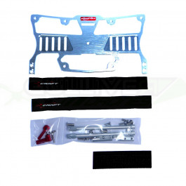 Support écran en aluminium anodisé argent pour pupitre radiocommande Secraft