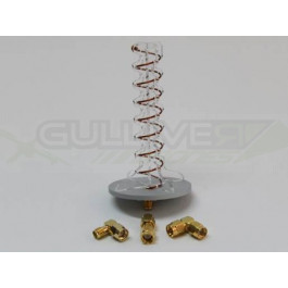 "Antenne Circular Wireless ""Axial Mode Helical"" à polarisation circulaire adaptateurs SMA et RP-SMA"