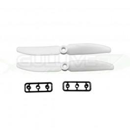 Hélice Gemfan Slow Fly blanc - 5 x 3 CCW (2 pcs)