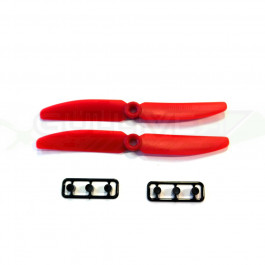 Hélice Gemfan SF push 5x3 CW rouge (2 pcs)