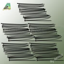 Colliers de serrage en plastique noirs 20cm par 100