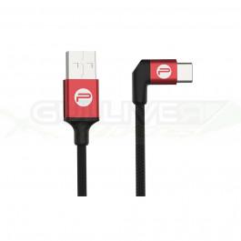 Câble USB A / C coudé 35cm