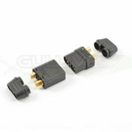 Connecteurs XT90 noirs male/femelle 1 paire