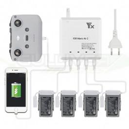 Chargeur multiple YX pour batteries Dji Mavic AIR 2