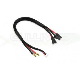 Cordon de charge / équilibrage - TRX 2-3S - Connecteur de charge 3S XH - Fil de silicium 14AWG - 30cm