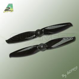 Hélice Gemfan Bipale Noir Polycarbonate 5x5 (2 Paires)