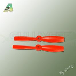 Hélice Gemfan fibre SF 5x4,6 bullnose orange (2 pcs CCW)