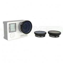Pack 3 filtres pour Gopro 3 et 4 sans boitier - Freewell