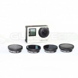 Pack 4 filtres pour Gopro 3 et 4 sans boitier - Freewell