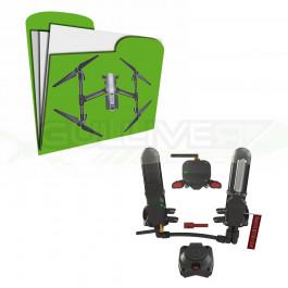 Homologation DGAC S1/S2/S3 + Parachute pour DJI Inspire 2