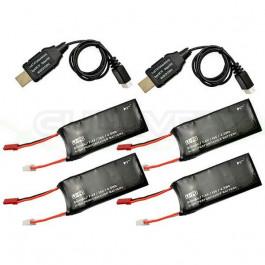 Combo batteries pour Hubsan H502S et H502E
