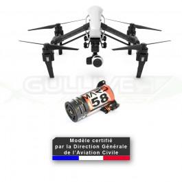 Dji Inspire 1 + Homologation DGAC S1/S2/S3 + Parachute