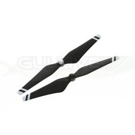 """Hélices 9.4""""x5"""" Dji renforcées en fibre de carbone pour E305 et Phantom (Noir + Bandes blanches)"""