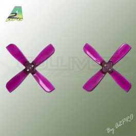 Hélice Gemfan Quadripale Violet Polycarbonate 2x3.5 (2 Paires)
