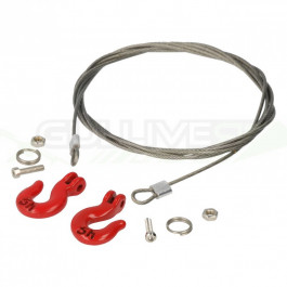 Câble acier 100cm avec crochets