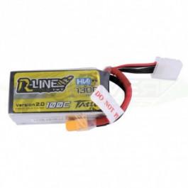 Batterie LI-PO HV Tattu R-Line 1300mAh 15.2v 100c 4s avec prise XT60 pour drone FPV Racing