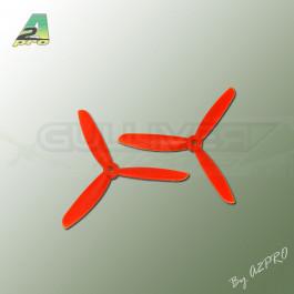 Hélice Gemfan Tripale Fibre Push 5x4,5 Orange (2 Pcs)