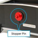 Stopper pin supplémentaire pour fixation radio sur pupitre Secraft.