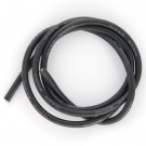 Cable silicone 10AWG (5,27mm²) noir - 1m