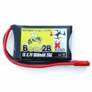 Batterie Lipo 3,7V 850mAh 25C prise JST