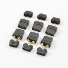 Connecteurs XT90 noirs male/femelle par 3 paires