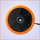 Roue Brushless 90mm 250W Longboard Électrique DIY Orange