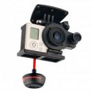 Support caméra Gopro + Caméra FPV + émetteur vidéo pour Phantom 1 et 2