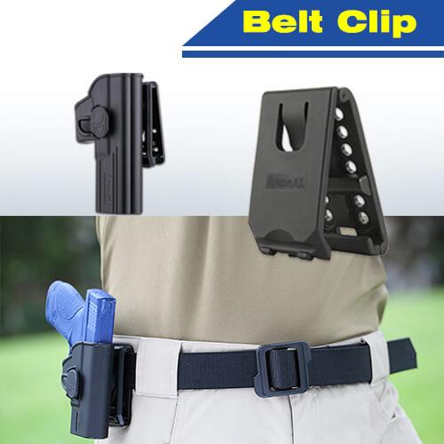 clips de ceinture pour holster amomax en situation