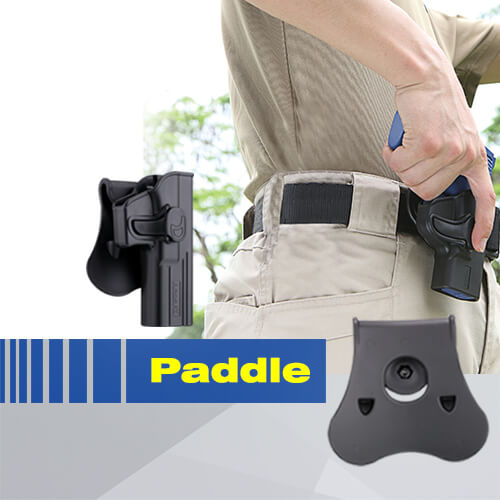 paddle pour holster amomax en situation